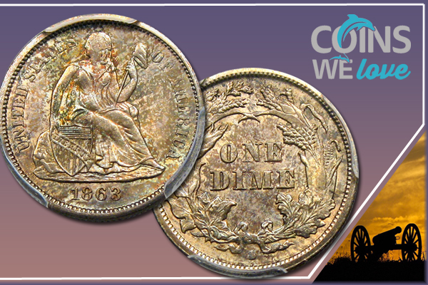 Coins We Love: Why Should I Care? 1863-S Seated Liberty 10c PCGS/CAC MS63+